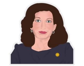 Kathy Hochul NY New York Governor Female Democrat Albany Buffalo Kiss-Cut Stickers