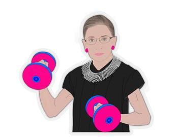 RBG Ruth Bader Ginsburg Feminist Girl Power Fitness Female Equality Stickers