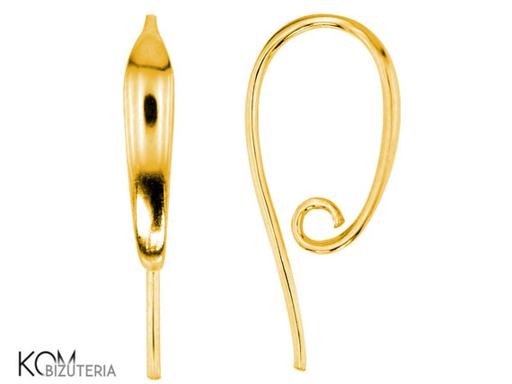 1 pair gold-plated silver Open earring kh 25