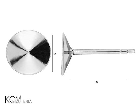 1 pair Silver stud earring kh 8.2 8 mm