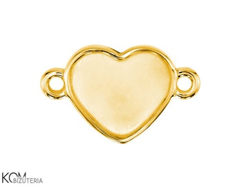 Pendant (bail) for Swarovski 2808 10 mm heart w 105 - gold-plated silver 925 (1 piece)