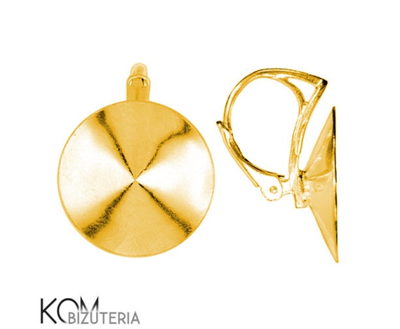 Leverback 12 mm rivoli earring kz 43 gold-plated silver 1 pair