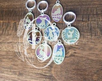 Hyacinth Jewellery Dog ID custom dog silhouette tag