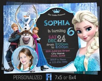 Frozen Invitation Frozen Birthday Party Frozen Elsa Anna Etsy