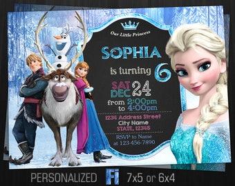 Frozen invitation etsy frozen invitation frozen birthday party frozen elsa anna elsa invite cartoon disney princess personalized printable digital file filmwisefo