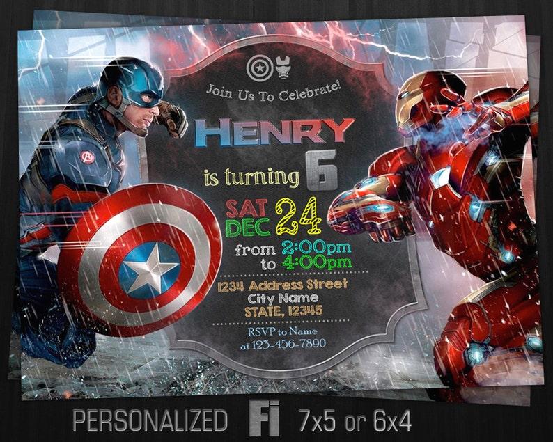 Civil War Party Decoration Kids Birthday Marvel Avengers Captain America
