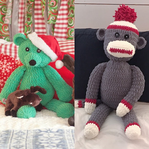 Darcy Large Monkey Free Crochet Pattern | Crochet monkey pattern ... | 570x570
