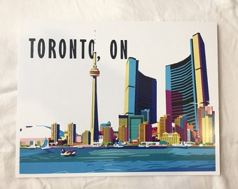 Toronto, ON, Graphic Print, Digital Illustration