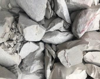 Calaba, small chunks, crumbs and dust. Edible clay. Chalk, kaolin.   250grams
