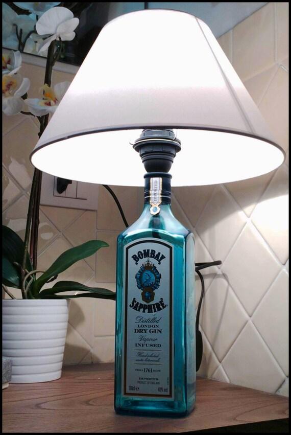 Bombe Lampe Lampe Lampe Lampe Lampe Gin Flasche Flasche Etsy