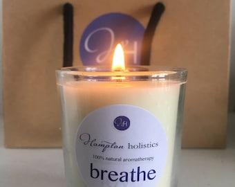 Aromatherapy candle 'Breathe' travel size