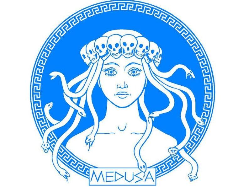 Medusa, Snake Head, Serpent, Vinyl Decal, Vinyl Sticker, Perseus, Poseidon,  Pegasus, Greek Mythology, Mythical Creature, Yeti Decal, Stone