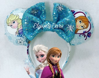 Frozen Anna and Elsa Minnie mickey ears headband/disney/Disneyland/Olaf/party/accessories