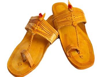 Men's Kolhapuri Leather chappals,Men's Handmade leather flats,Mens Kolhapuri shoes,leather slip on,genuine leather handmade flats for men