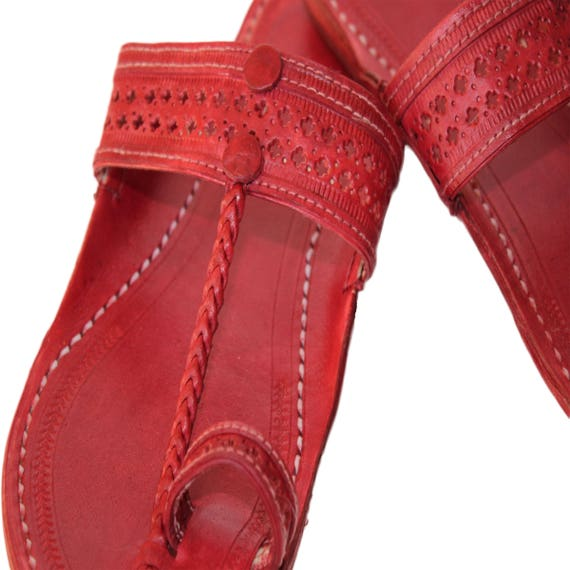 3753e373a4b6c Handmade kolhapuri leather sandalssummer flatsbohemian