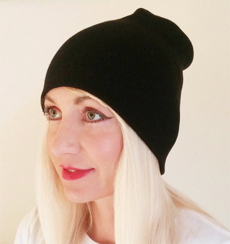 3c970ccdeed Black Beanie Beanie Hat Beanies Plain Hat Black Hat