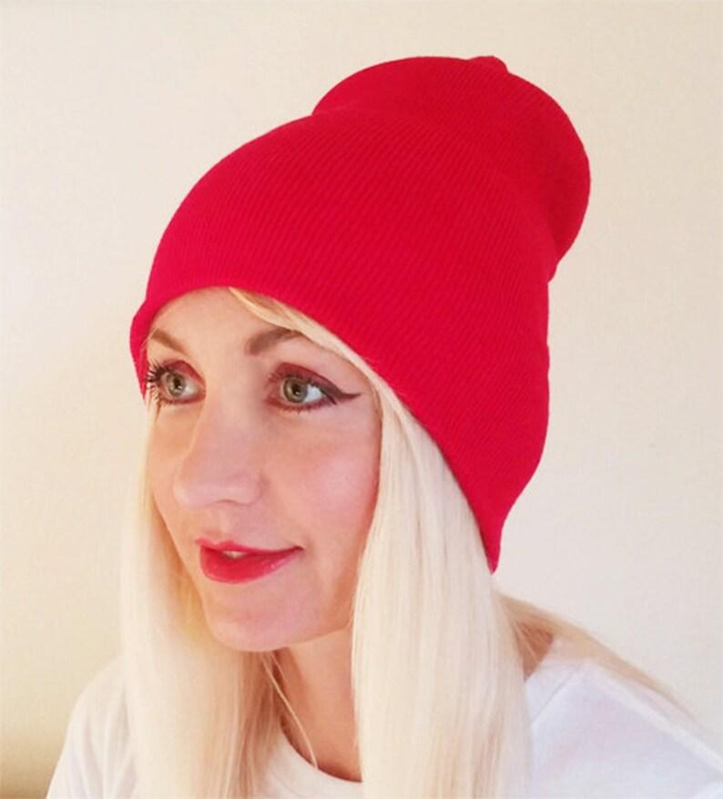 6f43b628901 Red Beanie Beanie Hat Beanies Plain Hat Red Hat Beanies