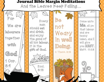Bible Journaling Printable Template And the Leaves Keep Falling