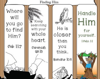 Bible Journaling Printable Template: Finding Him