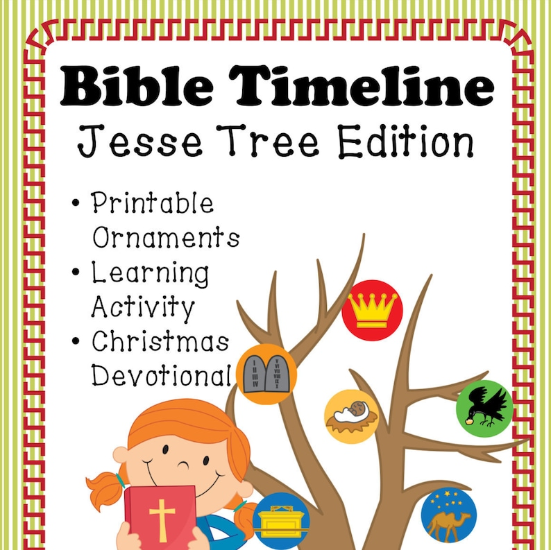 picture about Jesse Tree Ornaments Printable titled Printable Bible Timeline Jesse Tree Ornaments