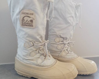 Vintage mens kaufman rubber sorel made in canada winter boots women's size 8