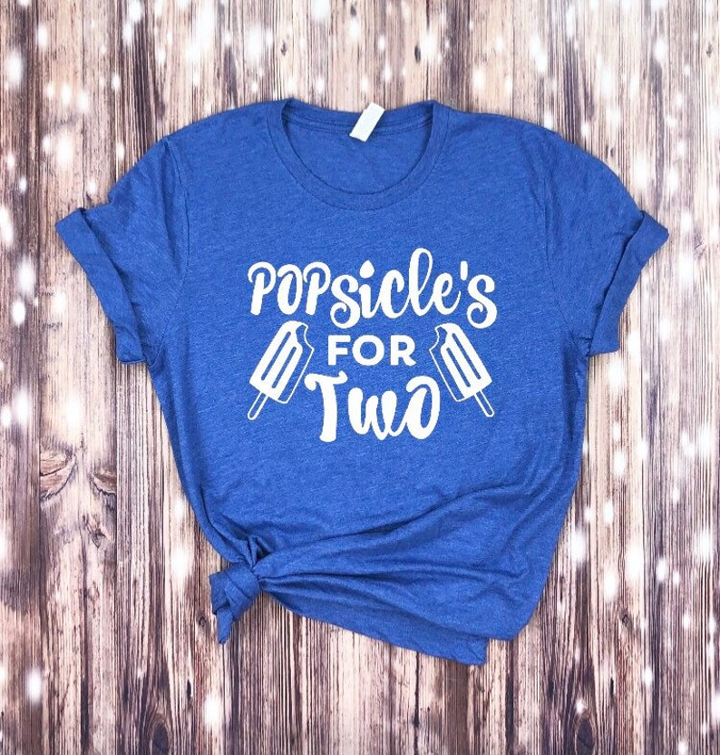 Popsicles For Two T-shirt Summer Pregnancy Shirt Spring image 0