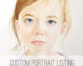 Watercolor portrait | Custom watercolor portrait | Custom painting l Child painting | Grandchild painting | portrait painting|