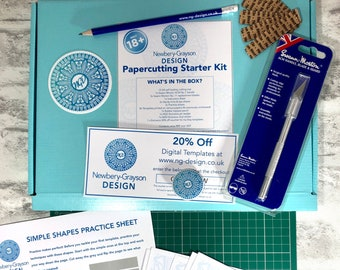 Papercutting Starter Kit for Beginners - Learn to Papercut at Home