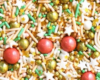 Gilded Lady, Mint Green Sprinkles, Peach Sprinkles, Gold Sprinkles, Unique Sprinkles, Pastel Sprinkles, Fancy Sprinkles, Sprinkle blend