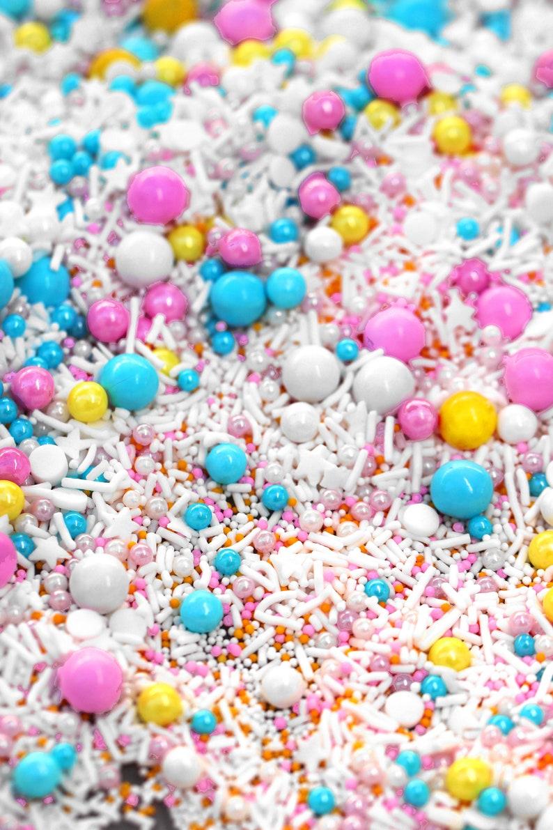 Mrs  Cottontail Sprinkle Blend, fancy sprinkles, white sprinkles, easter  sprinkles, spring sprinkles,