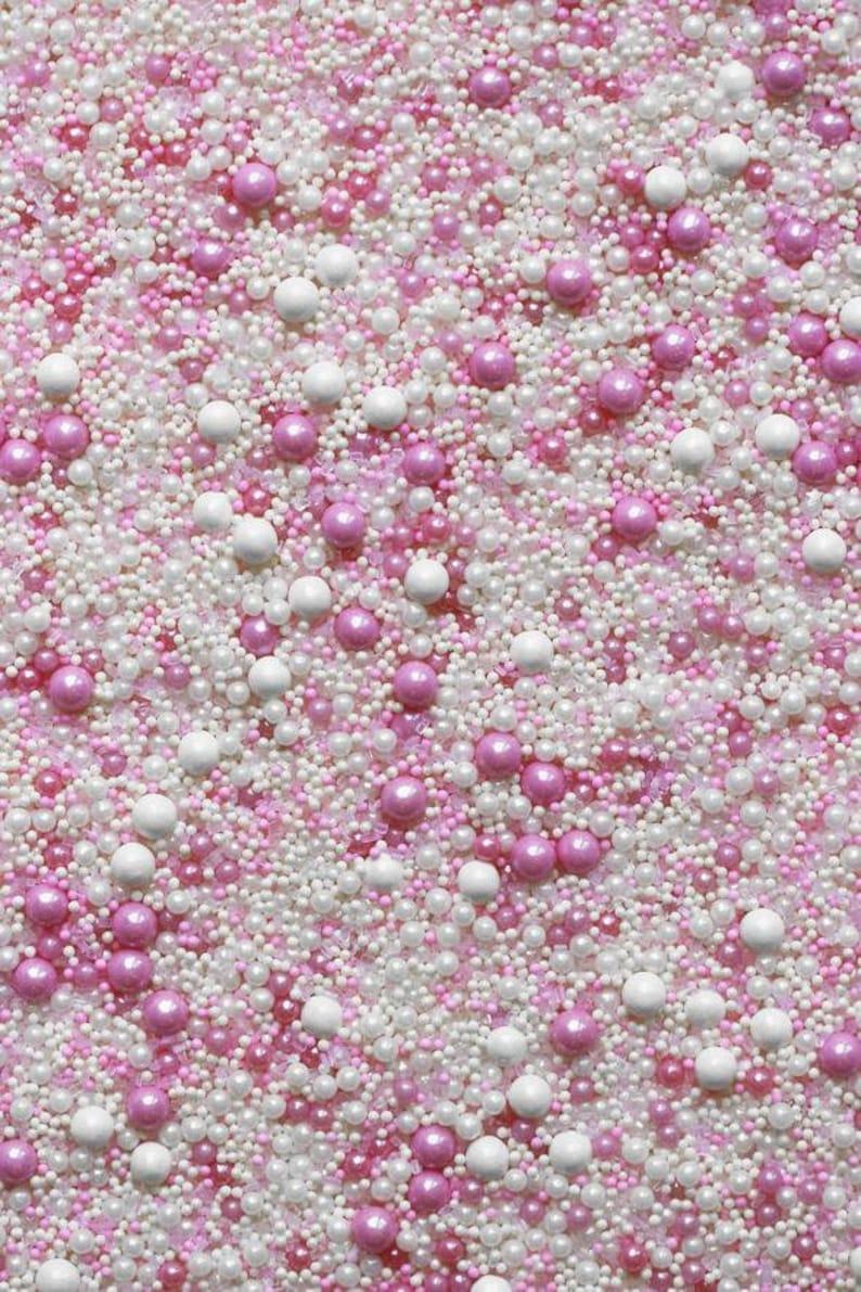 BUBBLE BATH Sprinkle Blend, pink sprinkles, Fancy Sprinkles, cake  decorations, round sprinkles, white sprinkles