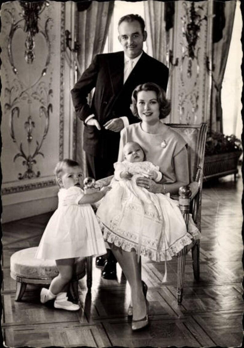 9aec3d898c c.1960s Princess GRACE Kelly & Prince Rainier III of Monaco, Prince Albert,  Princess Caroline; Postally Used, EXCELLENT Condition.