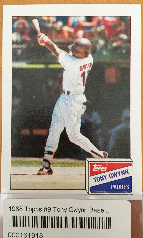 C1988 Tony Gwynn Topps Baseball Card San Diego Padres Outfield Mint Condition Card Of The Late Great Tony Gwynn