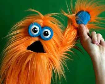 Live-Hand Mini Monster Puppet - Orange Fur