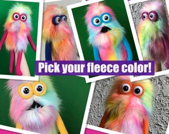 RAINBOW Mini Monster Practice Puppet - Custom