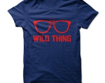 f8f29efa9 Wild Thing T-Shirt Design - Navy Shirt with Red Print