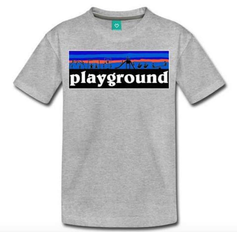 c18ce0748 Playground Children's T-Shirt Design Grey Shirt with | Etsy