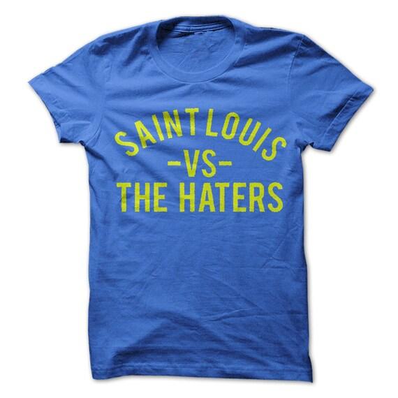 LOUIS HOCKEY t-shirt tee blue yellow white STL MO USA ice apparel winter ST