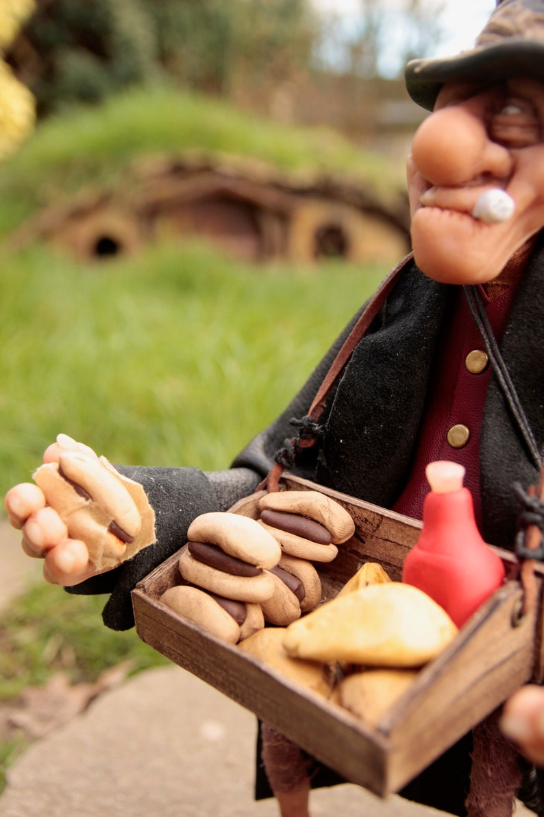 OOAK steampunk Fullup the Pie seller victorian collectible handmade character- fantasy