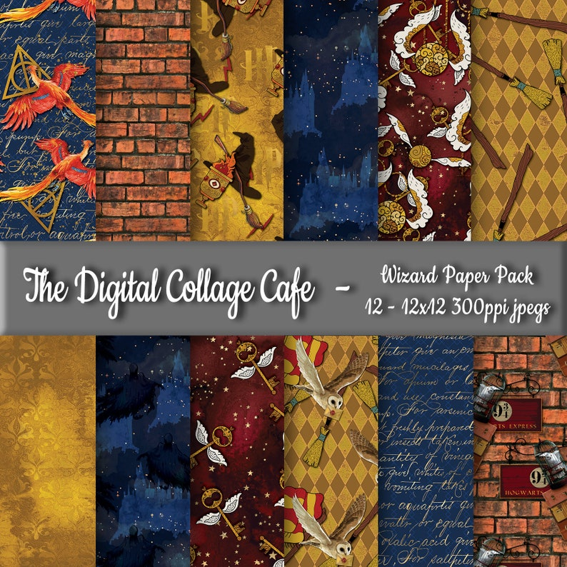Wizard Seamless Digital Paper Pack Magic Digital Paper Pack image 0