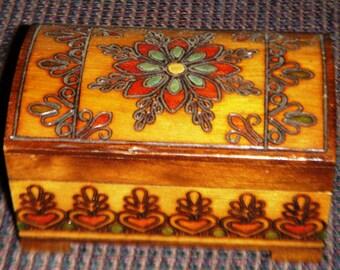 Multicolored Small Carved Box
