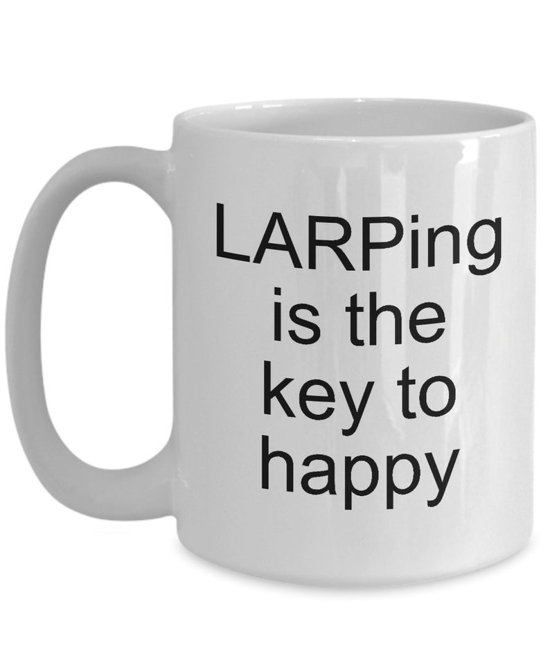 Larp mug larping lovers novelty mugs role playing gifts mmorpg nerds and  geeks bf gf birthday anniversary