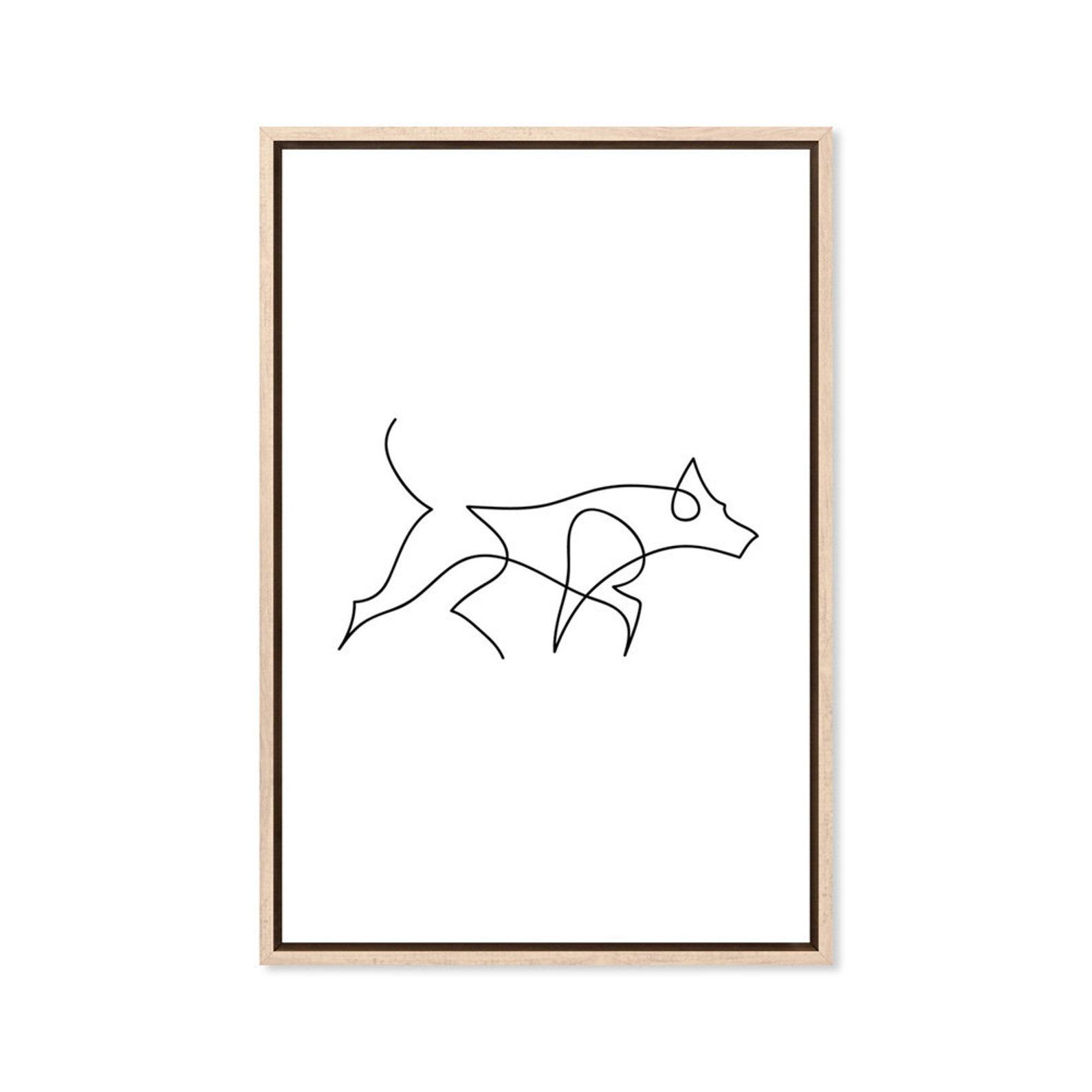 German Shepherd Line Art Print