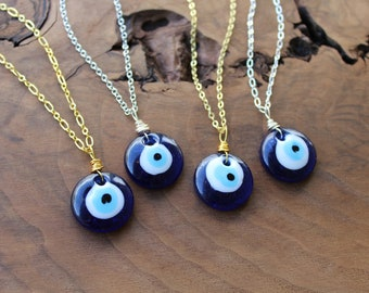 all seeing eye necklace Pagan Jewelry Mediterrenian Talisman Necklace Evil Eye protection necklace witchcraft protection necklace