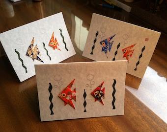 Handmade Origami Fish Card