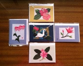 Handmade Origami Flower Greeting Cards