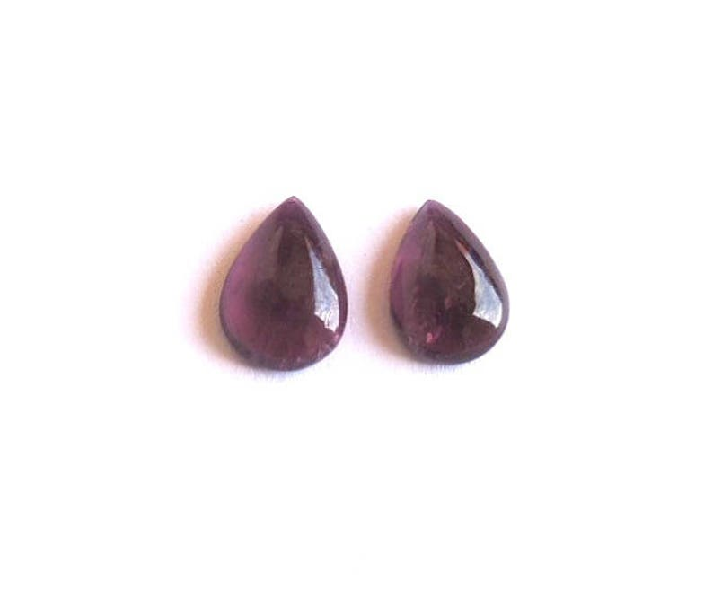 AAA Natural Pink Tourmaline Pears Shape Plain Pair Handmade Item Brilliant Finishing 10 ct 11-16 mm Good For ear Ring Making