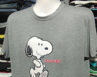 Vintage Clothing 90's Rare Peanuts t shirt Snoopy Size L