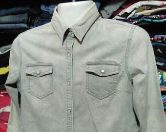 e011e342efb4 Vintage Clothing 90 s Rare UNIQLO Denim Jacket Women jacket SIze L