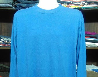 Vintage Clothing Harley Davidson Made In USA Blank Blue T shirt Size L ac53a391c